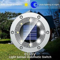 Biling Solar Lights Outdoor Grid Design Shell, Solar Powered Ground Lights Out