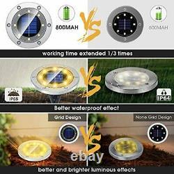 Biling Solar Lights Outdoor Grid Design Shell, Solar Powered Ground Lights Outdo