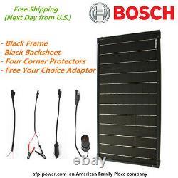 Bosch Plug-Power 30w 30 Watt Mono Solar Panel + $8 Adaptor 12v Off Grid Battery