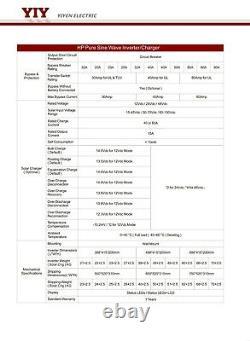 DC48V AC120V&240V 12KW Off-grid Power Inverter /Battery Charger Solar Customize