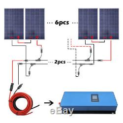 ECO 1000W Grid Tie Solar Power Kit 10pcs 100W Solar Panel Charging Home Caravan