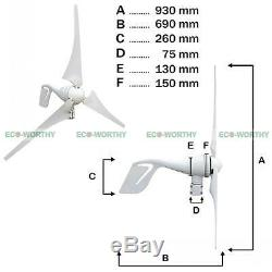 ECO Hybrid Wind Solar Power Kit 400W 500W 1KW Kit 12V 24V Off Grid Home Garden