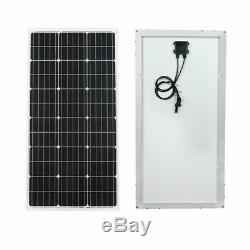 Eco 100w 18v Monocrystalline Solar Power Panel For 12v Battery Charger Grid