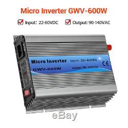 GWV-600W Solar Power Grid Tie Micro Inverters For 24V/36V/48V Storage Battery
