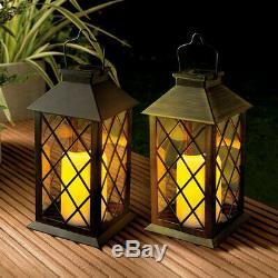 Grid Solar Power Hanging Light Walkway Driveway Garden Decor Lantern Patio Lamp