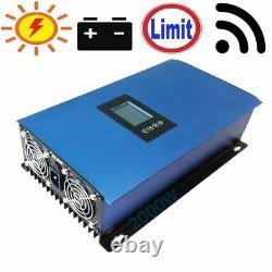 Grid Tie Inverter 2000W Solar Power Limiter Solar Panels Battery Home Clamp Sens