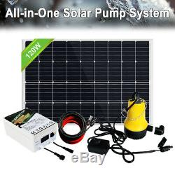 Grid-off 12V Submersible Water Pump Battery System Kits +Solar Powered Panel