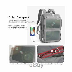 HANERGY Solar Powered Backpack Off-Grid 9W Thin Film Flexible Hidden Solar Pa