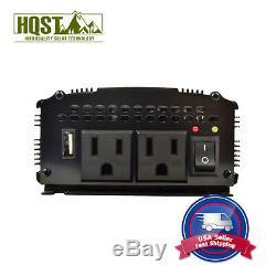 HQST 500 Watt Modified Wave Inverter 500W 12V Off Grid Solar Power Converter