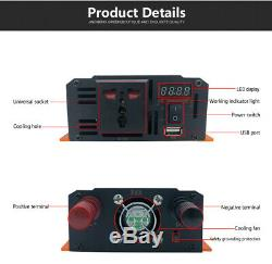 JNGE 12V/24V/48V DC to AC Pure Sine Wave Inverter for Solar Power System