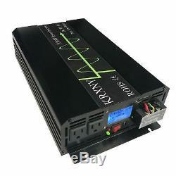 KRXNY 2000W 24V DC to 120V AC 60HZ Pure Sine Wave Off Grid Home Solar Power I