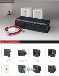 LCD Off Grid Solar Power Inverter 2000W 12V 220V/230V 50HZ Pure Sine Wave USB