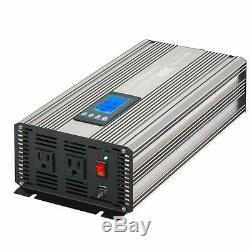 MarchInn 2000W (4000W Surge) Pure Sine Wave Solar Power Inverter Off Grid 12V DC
