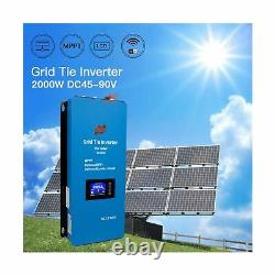 Marsrock 2000W MPPT Solar Grid Tie Inverter Power Limiter Sensor Wide DC Inpu