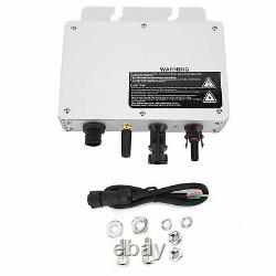 Micro Solar Power Grid Tie Inverter Voltage 80-160VAC/180-280VAC Waterproof