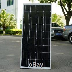 Monocrystalline 100 Watt 12V Solar Panel Off Grid Solar Power, (QTY 4) KJ
