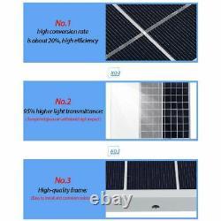 NEW Solar Panel Kit 1000W Solar Power Generator Grid System Power Station 50A US