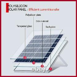 NEW US Solar Panel Kit 1000W Solar Power Generator Grid System Inverter Kit 50A