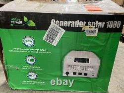 Nature Solar Generator Portable Power Pak Off Grid 1800W, Power Pak Only