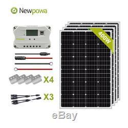 Newpowa 400W Watt 12V Monocrystalline Solar Panel Charging Kit system off grid