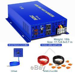 Off Grid 2000W Pure Sine Wave Inverter 48V to 110V 120V Solar Power Inverter