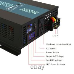 Off Grid Power Inverter 3000W 12V Pure Sine Wave Converter DC to AC for RV Camp