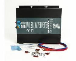 Off Grid Pure Sine Wave Solar Inverter 1500W 24VDC to 120V AC Car Power Inverter