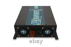 Power Inverter 1500W Pure Sine Wave 12V 110V 120V Solar Home Off Grid System RV