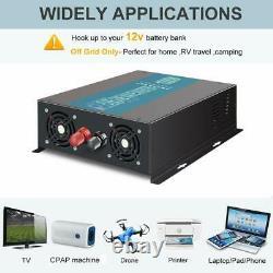 Power Inverter 24V to 110V 1000W Pure Sine Wave Solar Home Off Grid System Camp