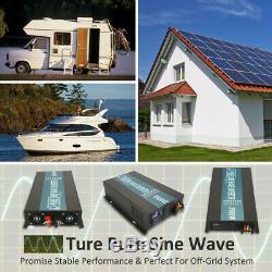 Power Inverter 2500W Pure Sine Wave 48V to 120V Solar Off Grid System Home Garde