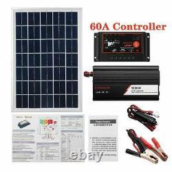 Power Station Solar Panel Kit Charger Inverter Controller Generator Grid System