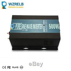 Pure Sine Wave 500W Solar Power Inverter 1000W Peak 48V to 110V 120V Off Grid
