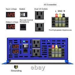 Pure Sine Wave Inverter 12v to 110v 120v 3500W Off Grid Solar Power Inverter