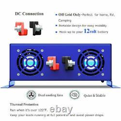 Pure Sine Wave Inverter 12v to 110v 120v 4000W Off Grid Solar Power Inverter