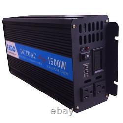 Pure Sine Wave Inverter 1500W Power Inverter 24V to 120V Off Grid Solar Home RV