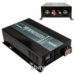 Pure Sine Wave Inverter 2000W Power Inverter 12V to 120V Off Grid LED Display