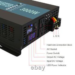 Pure Sine Wave Inverter 3000W Power Inverter 48V to 120V Off Grid LED Display