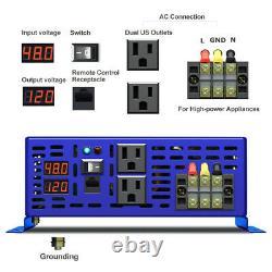 Pure Sine Wave Inverter 48v to 110v 120v 3500W Off Grid Solar Power Inverter