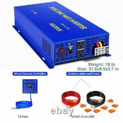 Pure Sine Wave Inverter 48v to 110v 120v 4000W Off Grid Solar Power Inverter