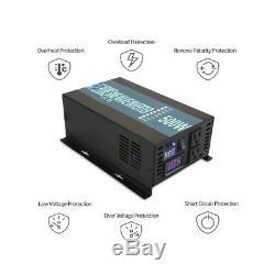Pure Sine Wave Inverter 500W Solar Power 48V to 110V 120V Off Grid Home System
