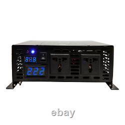 Pure Sine Wave Power Inverter 1500W 96V DC to AC 120V 220V Solar System Off Grid
