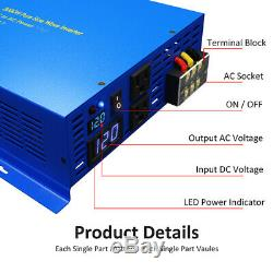 Pure Sine Wave Power Inverter 2500W 48V to 230V Solar Power Converter Off Grid