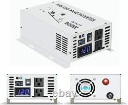 Pure Sine Wave Power Inverter 800W 24V to 110-120V Solar System Off-Grid RV/Home