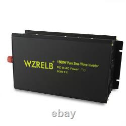 Pure Sine Wave Solar Inverter 1500W 12V DC to 120V AC Off Grid Power Inverter RV