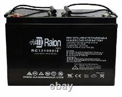 Raion 12V 100AH AGM Rechargeable Battery Trolling Motor RV Solar Off Grid System