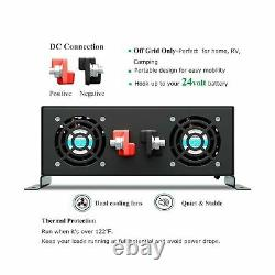 Reliable 3000W Solar Power Inverter Off Grid 24V DC Voltage Converter LED Dis
