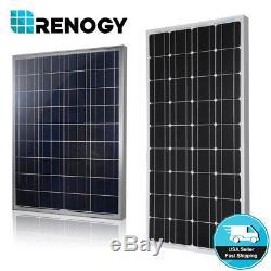 Renogy 100 Watt 12 Volt Solar Panel 100W 12V Off Grid Power RV Boat Home Garden