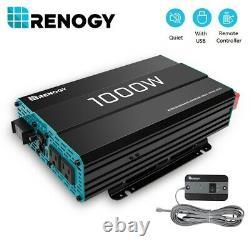 Renogy 1000W 12V Pure Sine Wave Solar Inverter Power Battery Converter off GRID