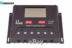 Renogy 100W 12V Solar Panel Starter Kit 30A LCD Charge Controller Off Grid Power