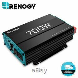 Renogy 700W Pure Sine Wave Solar Power Inverter Off Grid Battery Power Converter
